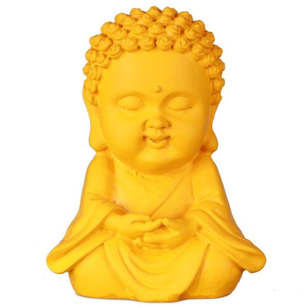 Estátua Monge Budista Amarelo