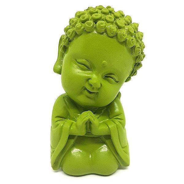 Estátua Monge Budista Verde