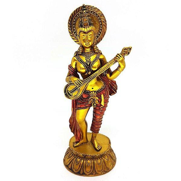 Estátua Deusa Hindu Saraswati