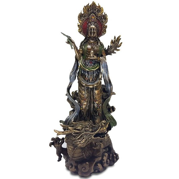 Estátua Kuan Yin e Dragão