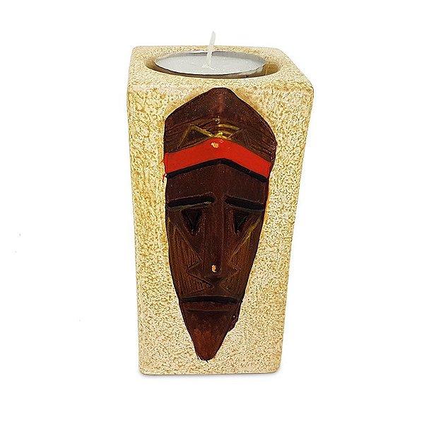 Porta-Vela Máscara Tribal Africana