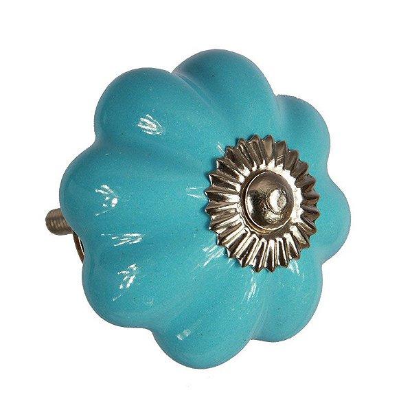 Puxador de Móveis em Cerâmica Azul