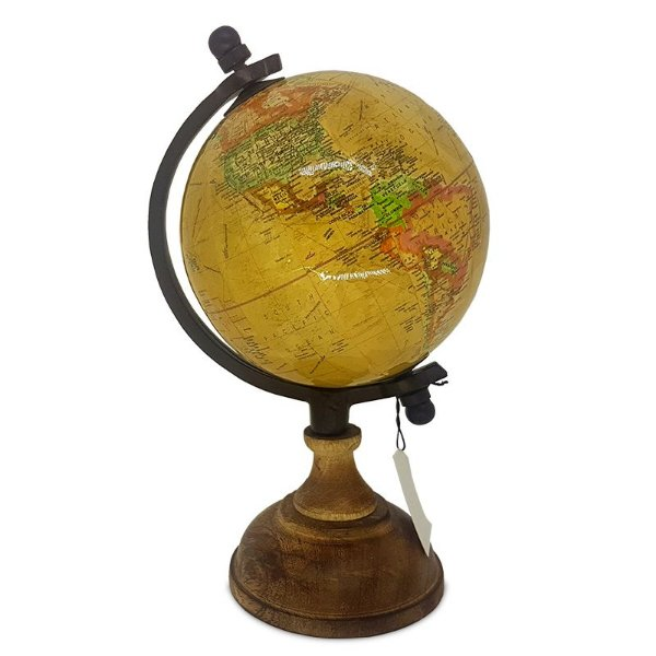 Globo Mapa Mundi 25x40cm