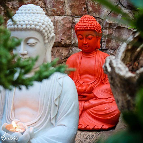 Escultura Buda Flor de Lótus