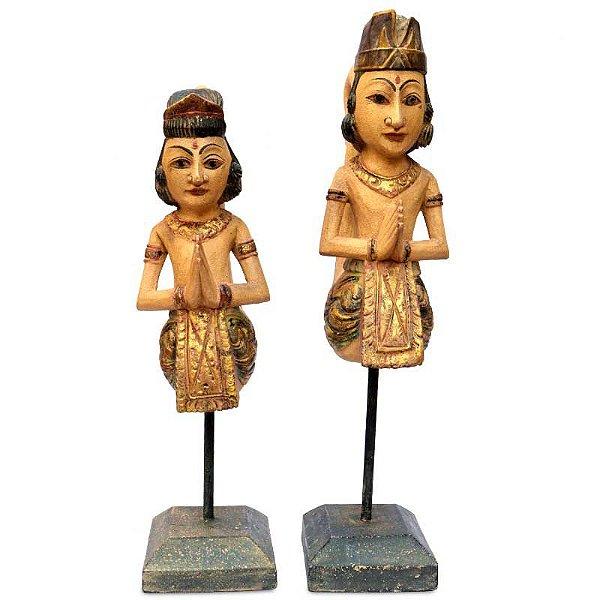 Esculturas Casal Balinês c/ Base