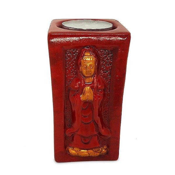 Porta-Vela Buda em Cerâmica