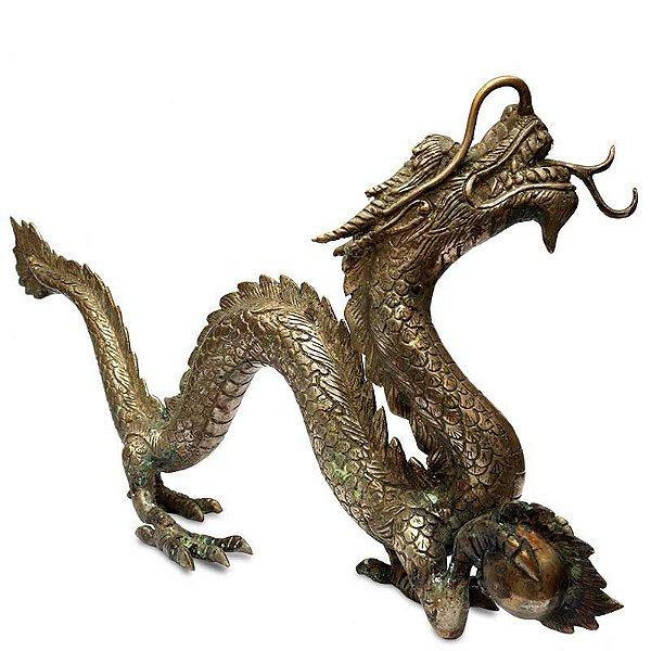 Dragão Oriental em Bronze