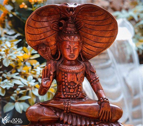 Shiva em Madeira Bali 30cm