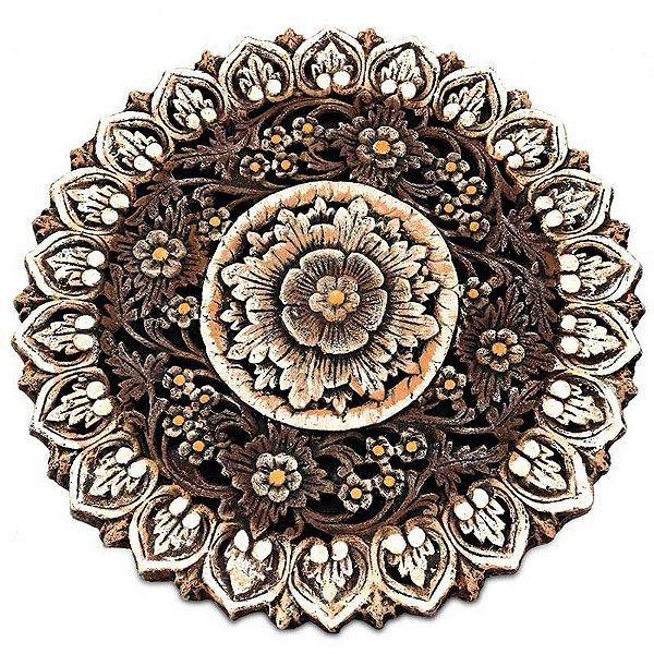 Mandala Floral em Pedra 56cm - Bali