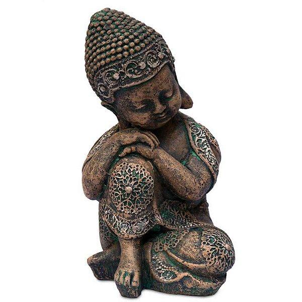 Monge Budista Relax em Pedra