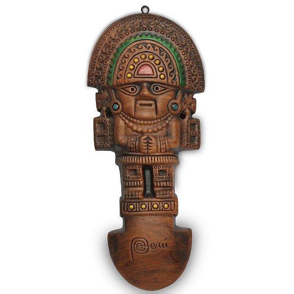 Escultura Tumis-Lambayeque Em Cerâmica