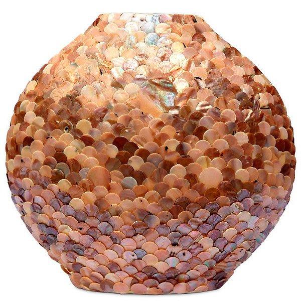 Vaso Decorativo Em Madrepérola Marrom