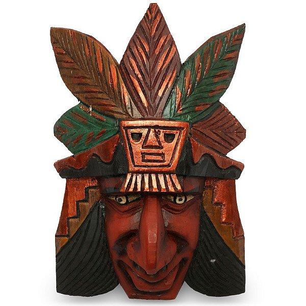 Máscara Decorativa Guerreiro Inca