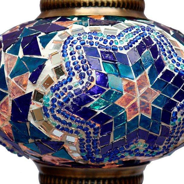 Lustre Turco Em Mosaico Com Fiação