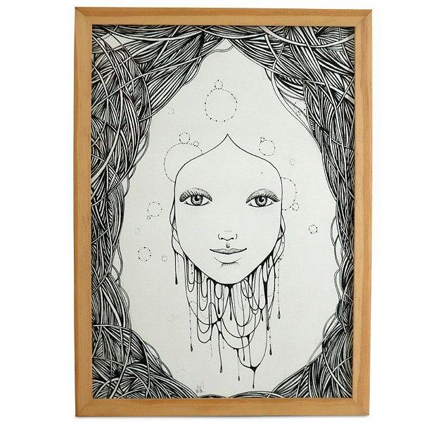 Gravura Zen Emoldurada - Mari Pavanelli