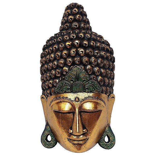 Máscara Cabeça de Buda Dourada 60cm