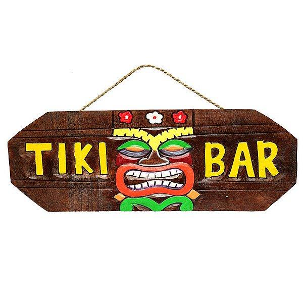 """Placa """"Tiki Bar"""" Havaiana"""