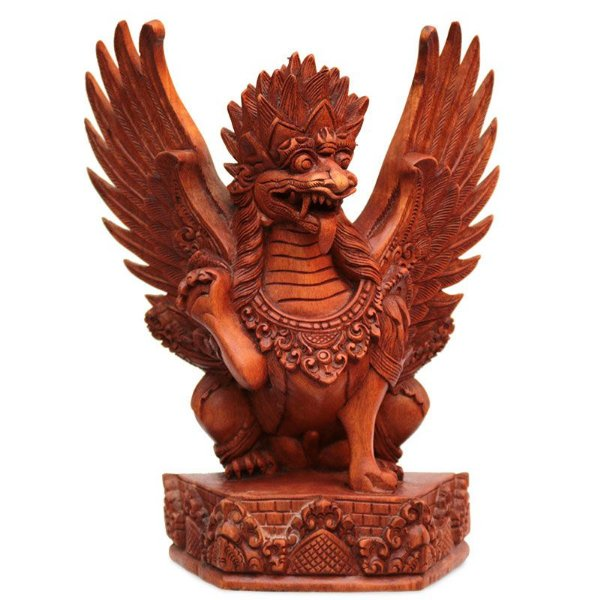 Escultura Garuda Entalhado Na Madeira
