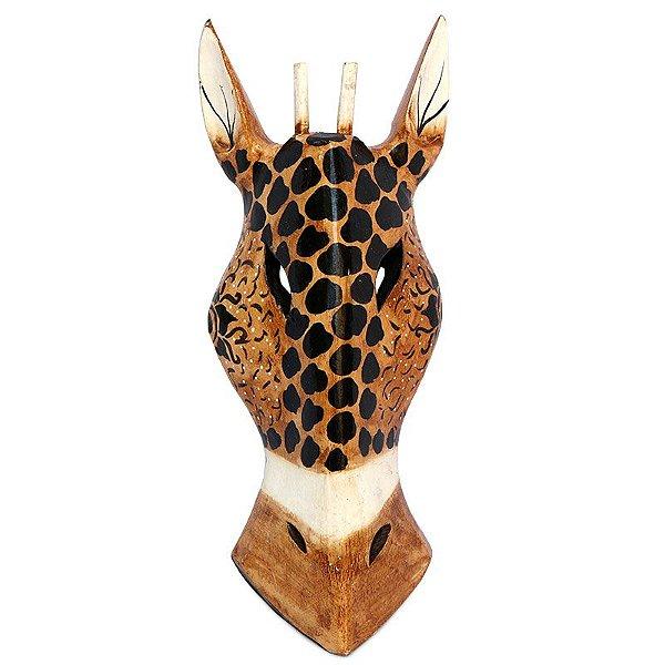 Máscara Cabeça Girafa Sol Tribal
