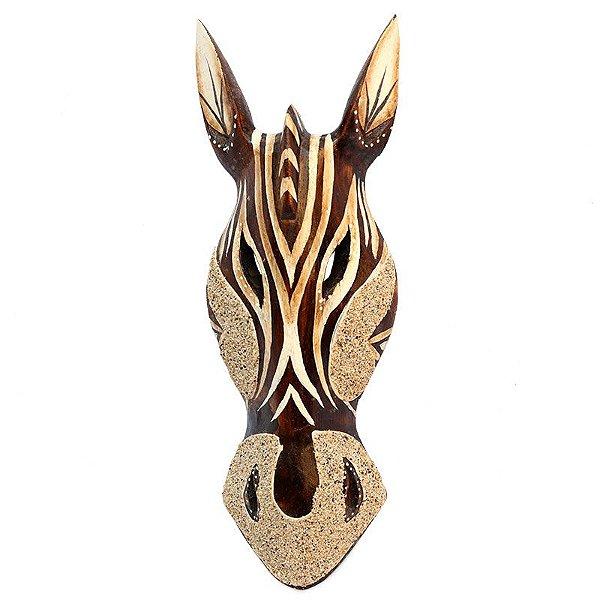 Cabeça De Zebra C/ Areia Jateada