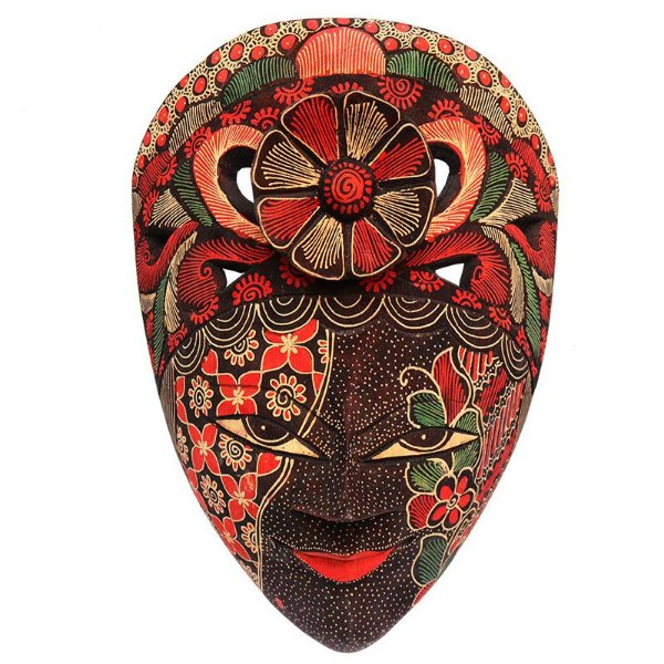Máscara Batik Tatuada Tribal 28cm
