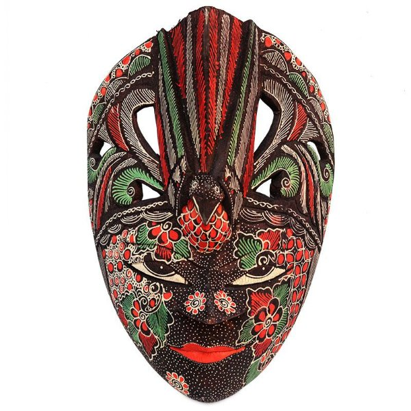 Máscara Decorativa Batik Pássaro Color