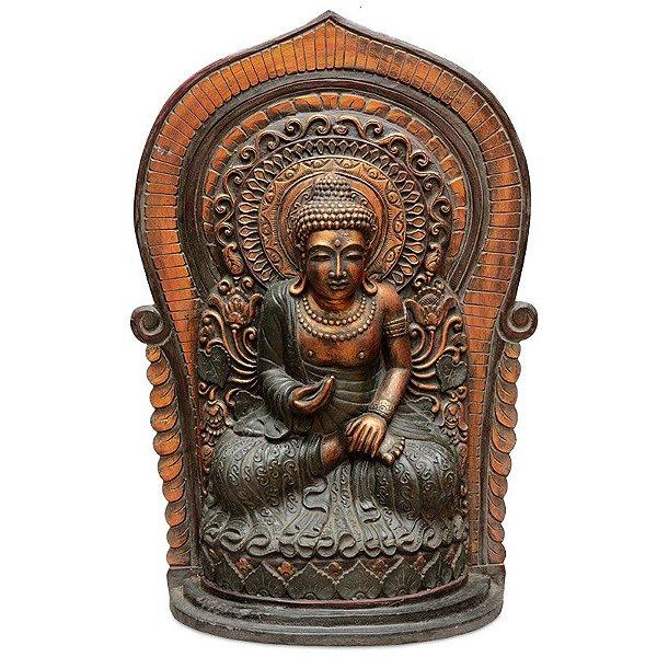 Escultura Buda No Altar 80cm - Bali