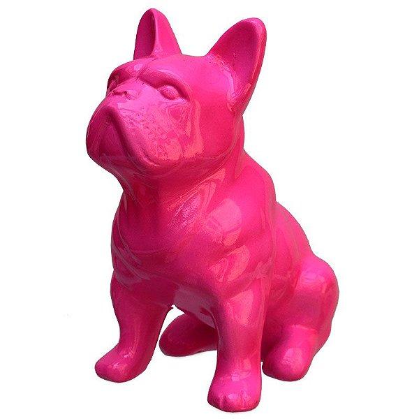 Escultura Bulldog Francês Em Resina