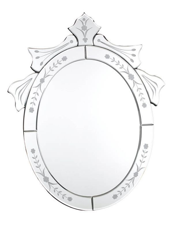 Espelho Decorativo Veneziano Oval para Decoração 50x40cm