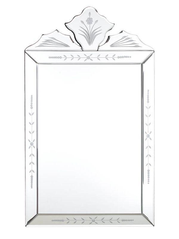 Espelho Decorativo Retangular - Estilo Veneziano 50x30cm