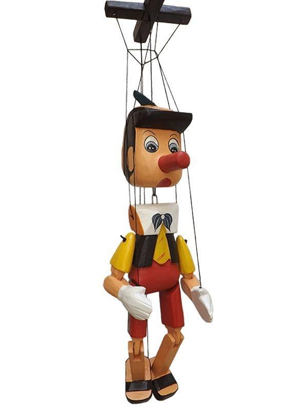 Pinóquio Marionete em Madeira 30cm - Bali
