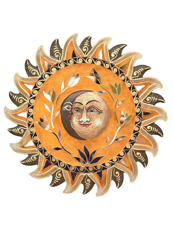 Sol e Lua em Madeira 40cm - Bali