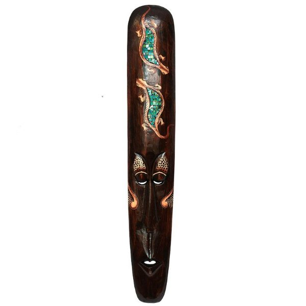 Máscara Decorativa Geckos Mosaico 100cm