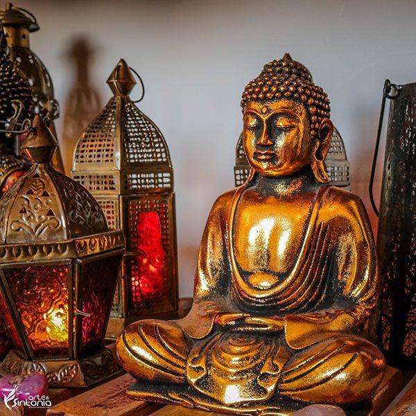 Buda Zen Meditando Gold/Silver