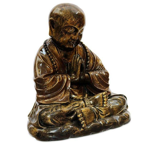 Estátua Monge Budista Orando