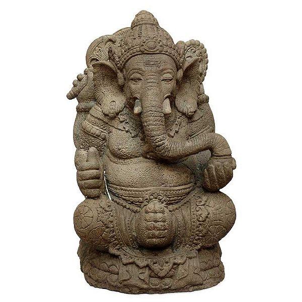 Estátua Ganesha em Pedra 60cm