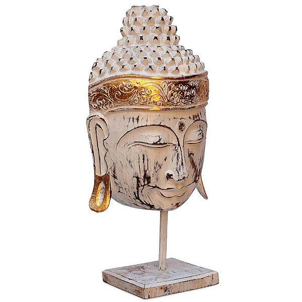 Cabeça de Buda Pátina com Base