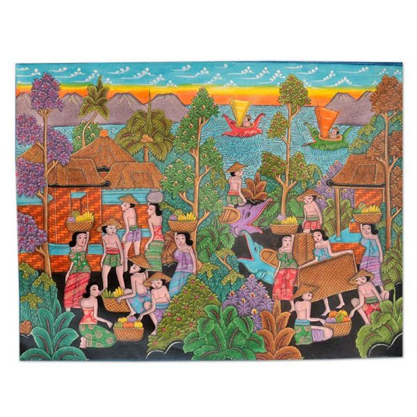Tela Bali Culture 60x80cm  Balinesa