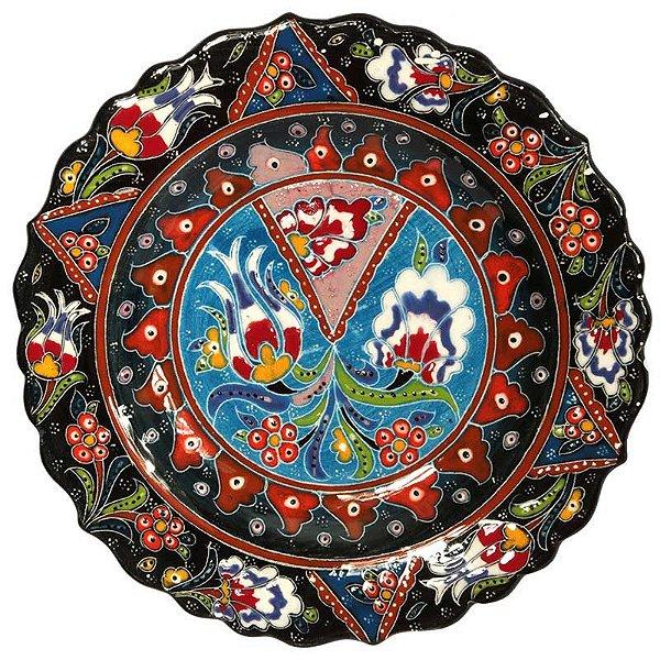 Prato Turco Cerâmica Iznik 18cm
