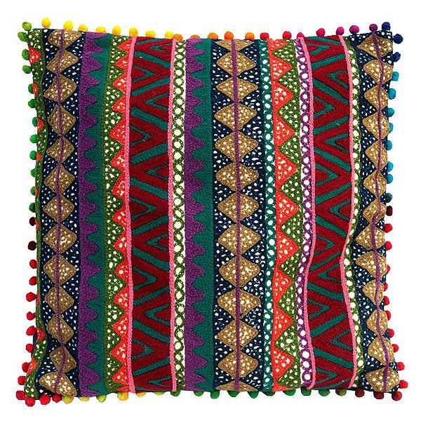 Almofada Indiana Ethnic Colors