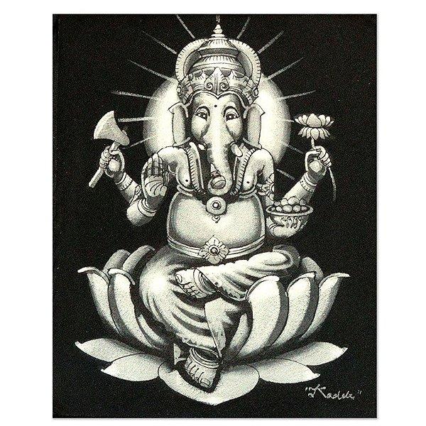 Pintura em Tela Ganesh Silver 25x20cm