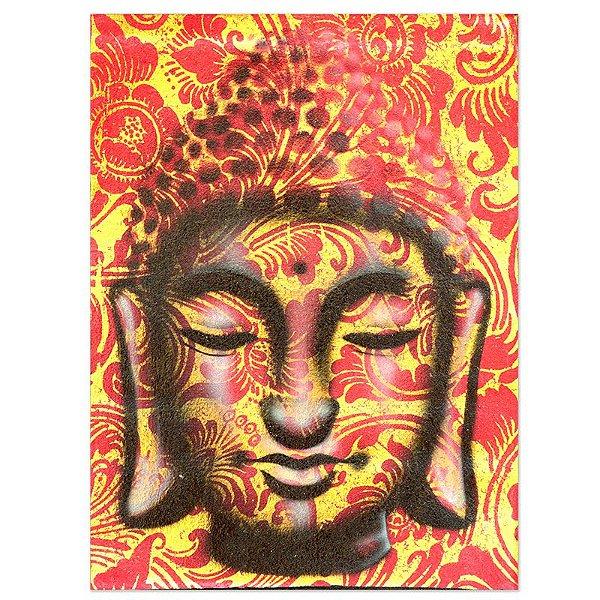 Pintura em Tela Buda Red 40x30cm