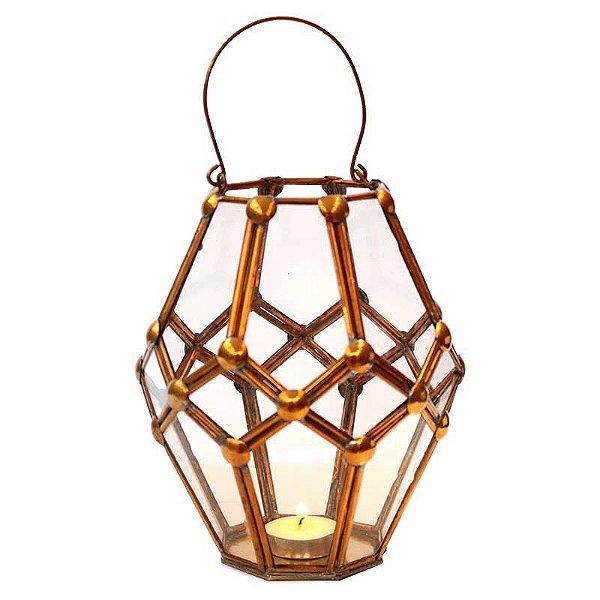 Lanterna Caleidoscópio Gold Velas