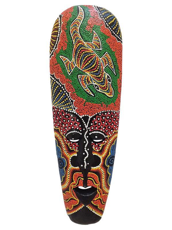 Máscara Decorativa em Madeira 50cm - Lombok