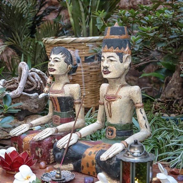 Casal Balinês Antique 35cm