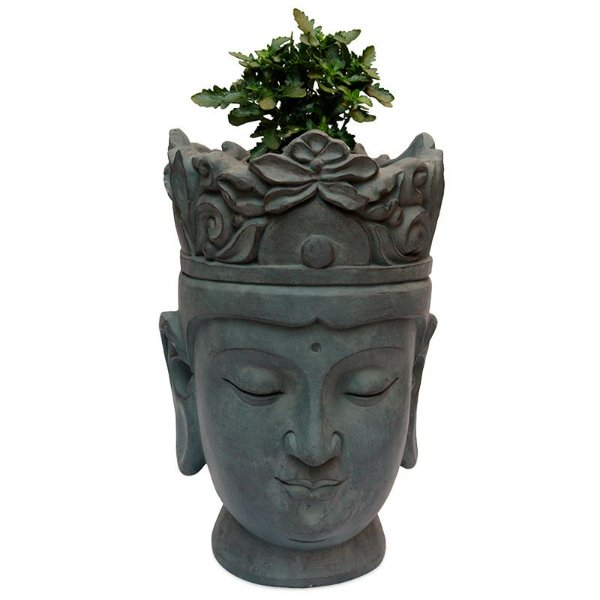 Vaso Grande Cabeça de Buda 50cm