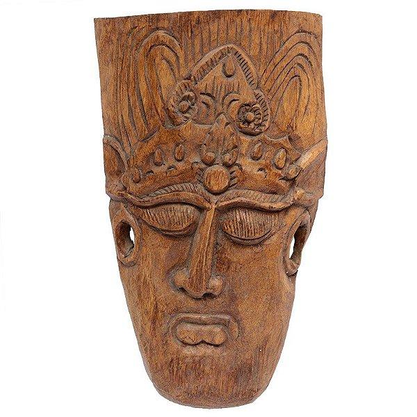 Máscara Entalhada em Madeira 42cm