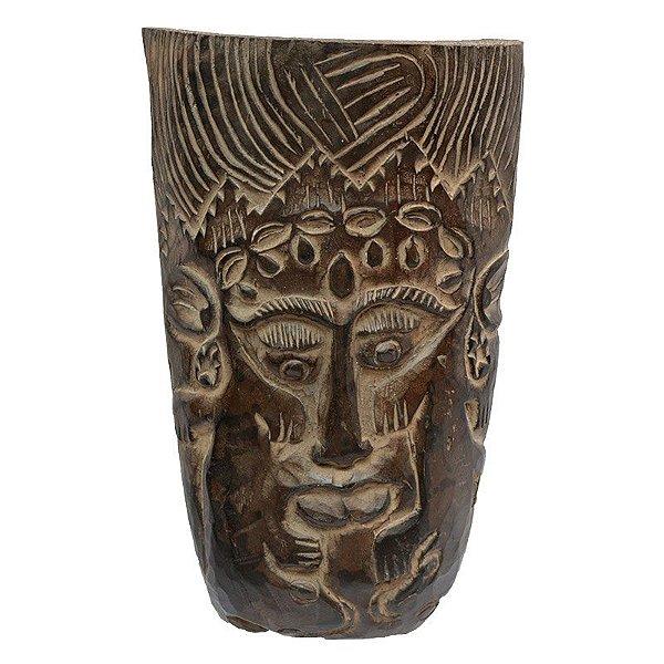 Máscara Entalhada Bali Rara 35cm