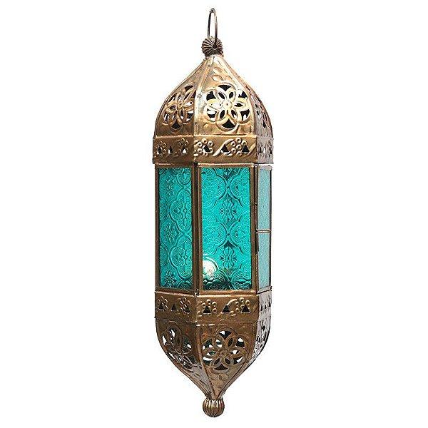 Lanterna Indiana Pendente 33cm - Blue