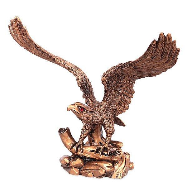 Estátua Águia Gold 28cm